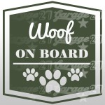 Dog on board 02 - Sticker da 10x10 cm