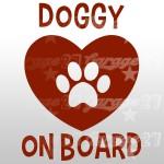 Dog on board 03 - Sticker da 10x13,4 cm