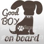 Dog on board 04 - Sticker 10x10,6 cm