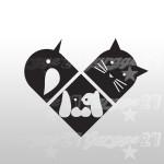 Pet's Heart - Sticker  da 12,5x10 cm