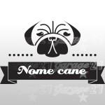 Dog name 02 - Sticker da 16,5x10 cm