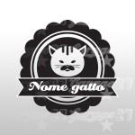 Cat name  - Sticker da 10,5x10 cm