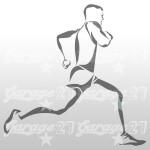 Runner - Adesivo sagomato