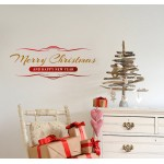 Merry Christmas - Adesivo murale 57x22 cm