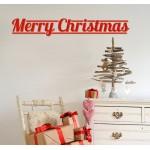 Merry Christmas - Adesivo murale 65x10 cm