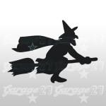 Strega di halloween  15x11  Sticker decorativo