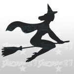 Strega di halloween  15x13  Sticker decorativo