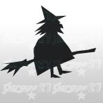 Strega di halloween  14x15 cm  Sticker decorativo