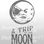 A Trip to the Moon - Adesivo murale 57x100 cm