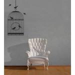 Gabbia con uccellini- 58x110 cm