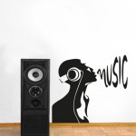 Music 90x81 cm - Adesivo murale