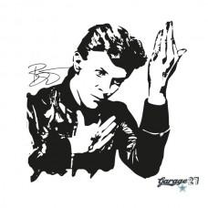 David Bowie | Adesivo murale 58X58 cm