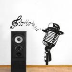 Microfono 134x123 cm - Adesivo murale