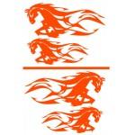 Adesivi  sagomati cavalli e fiamme