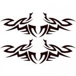 Adesivi  sagomati tribali 32x22 cm