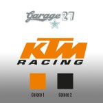 KTM Racing | Sticker sagomato da 9  cm