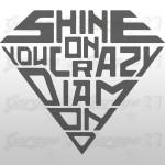 Shine on You crazy diamond | Sticker sagomato da 12 cm