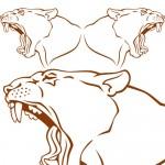 Puma coppia - 55x22 cm