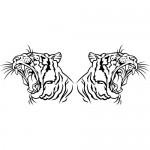 Tigre coppia - 50x22 cm