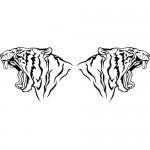 Tigre coppia - 55x22 cm