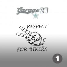 Respect for bikers   Sticker sagomato 10 cm