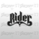 Rider   Sticker sagomato da 10 cm