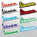 Logo Vespa Sticker colorato- 13x5 cm
